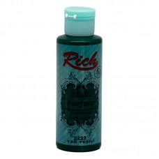 Rich Multi Surface Paint 2222 130ml Oil Green