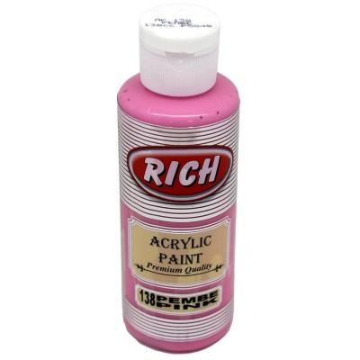 R-138 Ακρυλικό Χρώμα Pink 130ml Rich