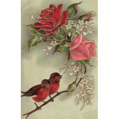 Vintage birds & flowers 1900109