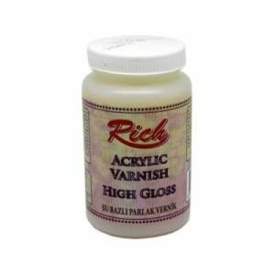 Rich Acrylic Varnish High Gloss 250ml R-V106
