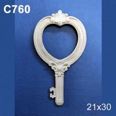 κλειδί κορνίζα sah-c760b 20χ11