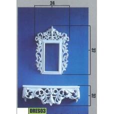 Έπιπλο τοίχου-καθρέπτης PS-DRES03