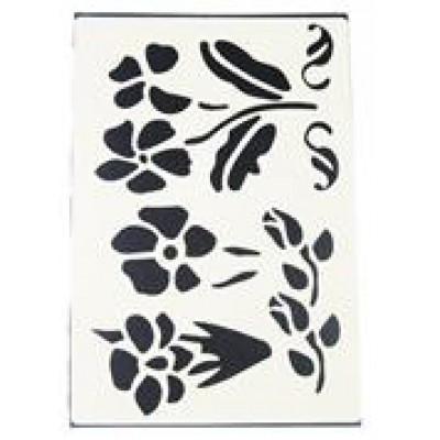 Decouprint Στένσιλ Α4 Λουλούδια3 N117