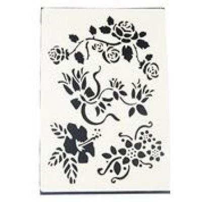 Decouprint Στένσιλ Α4 Λουλούδια N111
