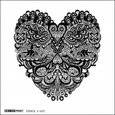 Στένσιλ Καρδιά-Δαντέλα S-1037