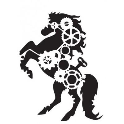 Άλογο Steampunk Βελούδο VEL-104