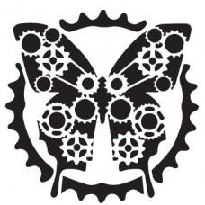 Πεταλούδα Steampunk Βελούδο VEL-106