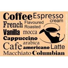 Stencil Coffee 20X30cm SS-8417