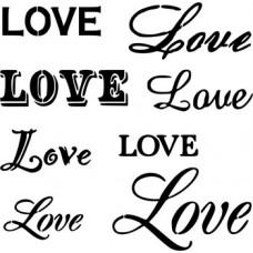 Stencil Love 20X20cm SS-8275