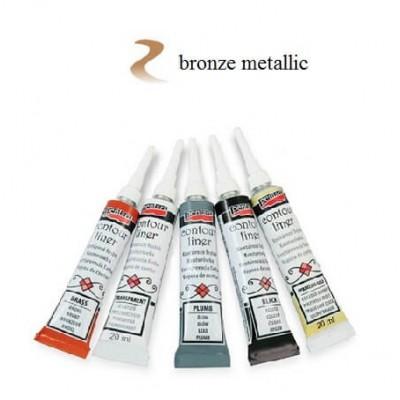 Contour Liner Pentart 20ml – Brass Metallic