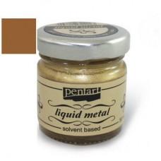 Φύλλο χρυσού Yγρό Pentart Liquid metal 30ml – Bronze