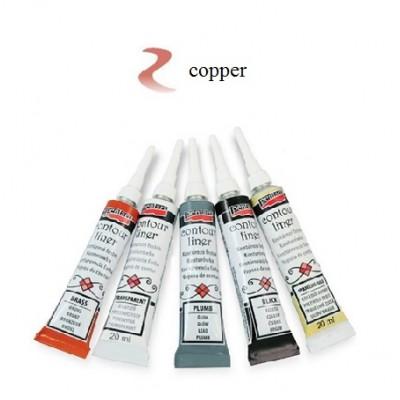 Contour Liner Pentart 20ml – Copper