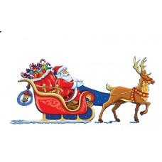 Έλκηθρο Santa Claus σε MDF 13,5εκ.