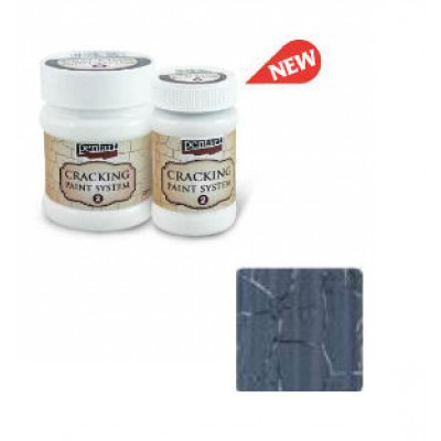 Cracking Paint System Step 2, Pentart 100ml , Graphit Grey