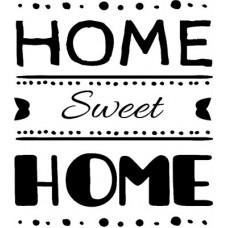 Stencil Home Sweet Home 30X30cm SS-8238