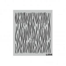 Stencil Αυτοκόλλητο L094