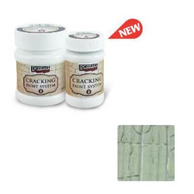 Cracking Paint System Step 2, Pentart 100ml , Lichen Green