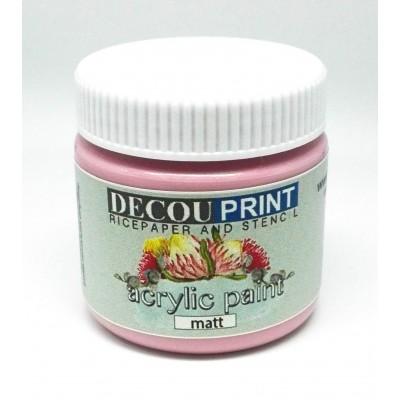 Ακρυλικό Χρώμα Ματ Vintage Ροζ 75ml C-CM003