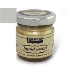 Φύλλο χρυσού Yγρό Pentart Liquid metal 30ml – Silver