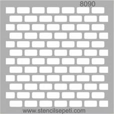Stencil Τοίχος 20X20cm SS-8090