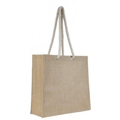 Τσάντα αγοράς απο γιούτα με χερούλια από σχοινί AC-113