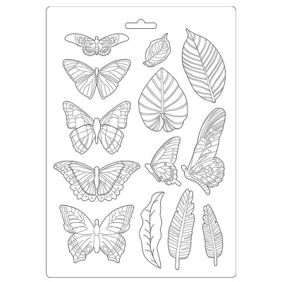 N-Καλούπι εύκαμπτο A4, 21x29cm Amazonia leaves and butterflies